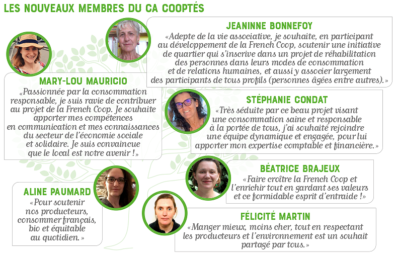 Membres cooptes 2020 CA French Coop