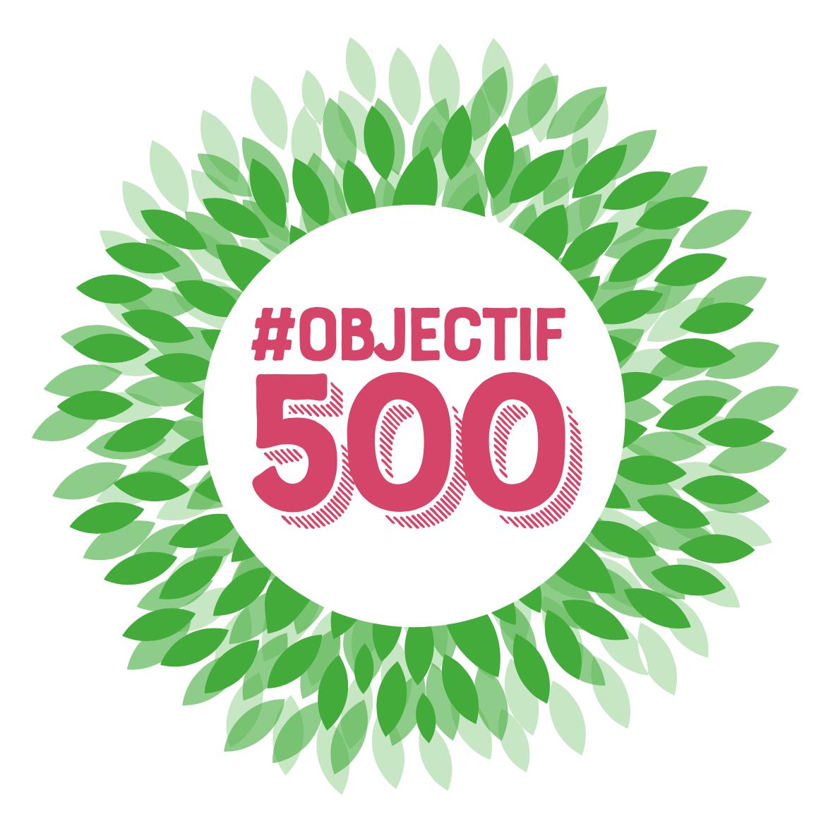 Opération spéciale de parrainage : #OBJECTIF500