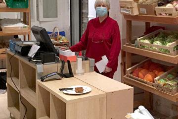 meuble de caisse 2021 pour La French Coop l'épicerie