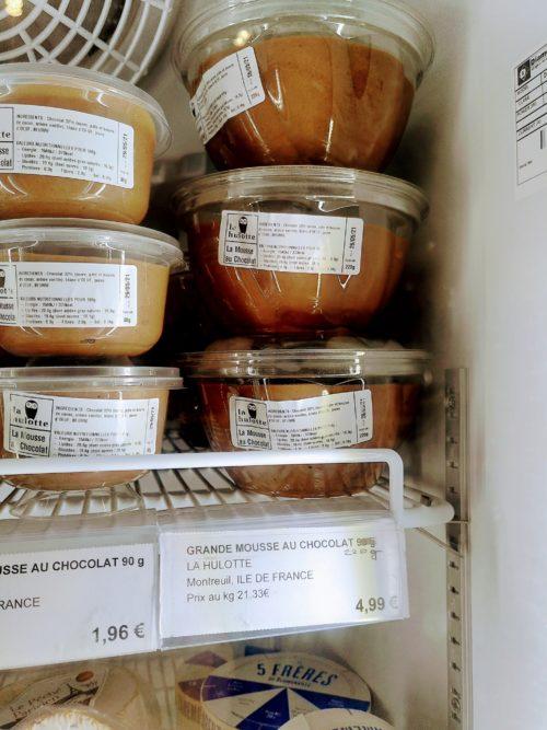 La mousse au chocolat de La Hulotte vendue à la French Coop