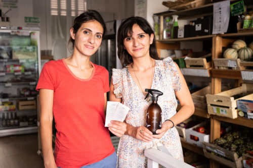 Nina et Annie, créatrices de la marque Léfé, produit multiusage écoresponsable