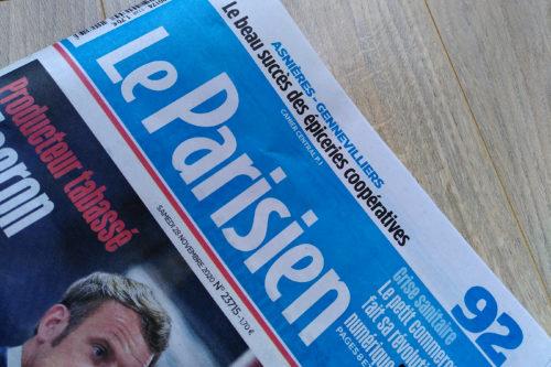 Le Parisien 27 novembre 2020