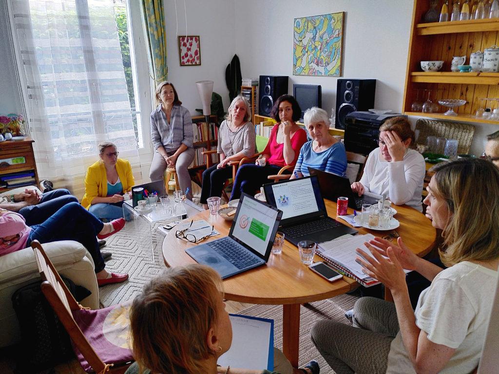 Équipe de travail lors de la journée de réflexion, autour du projet de La Grande Épicerie de La French Coop.